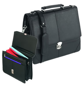 Leatherette Ministry Meeting Flapover Briefcase / Bag\ width=