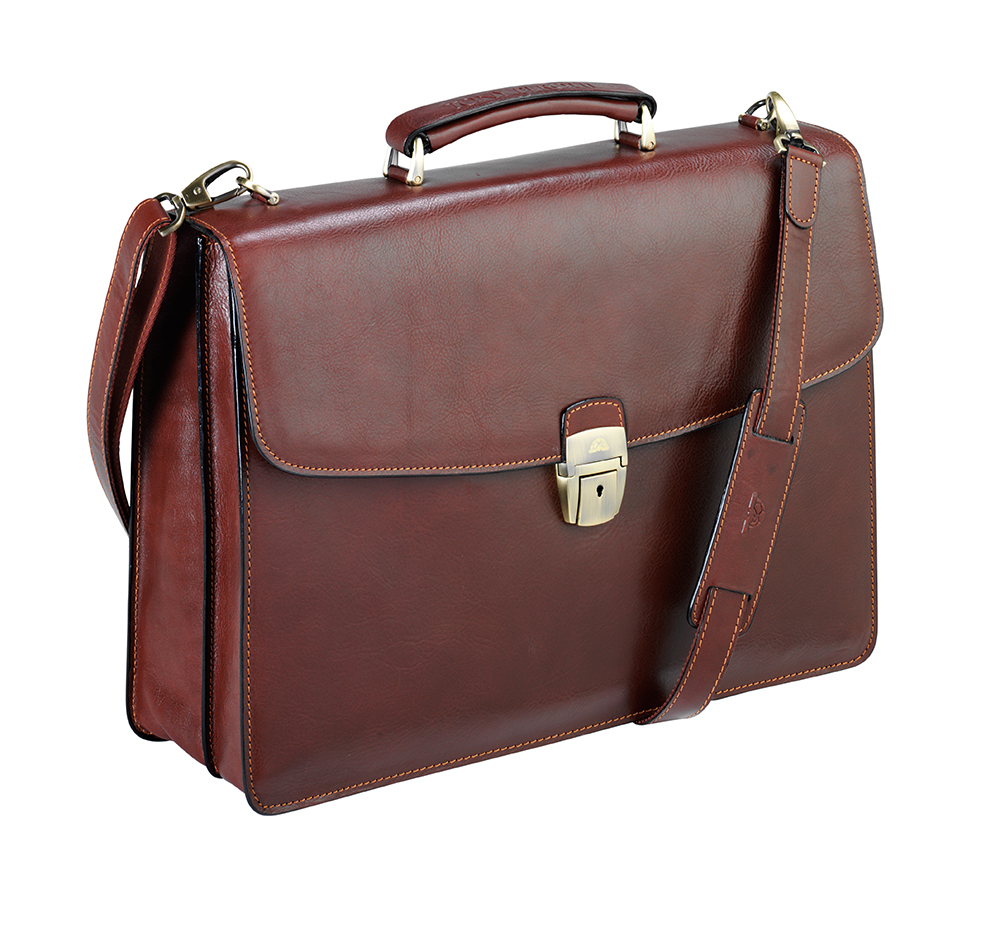 Real Leather Briefcase - Premium Quality Italian Leather\ width=