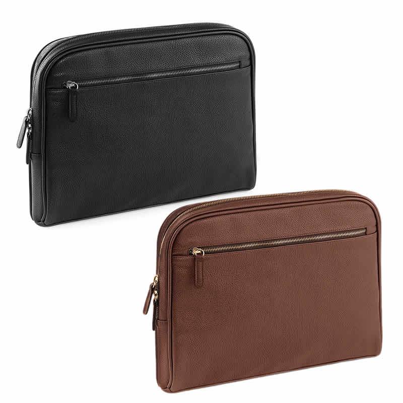 Full grain leather-look NuHide™ PU  iPad® / Tablet Shuttle Case Bag