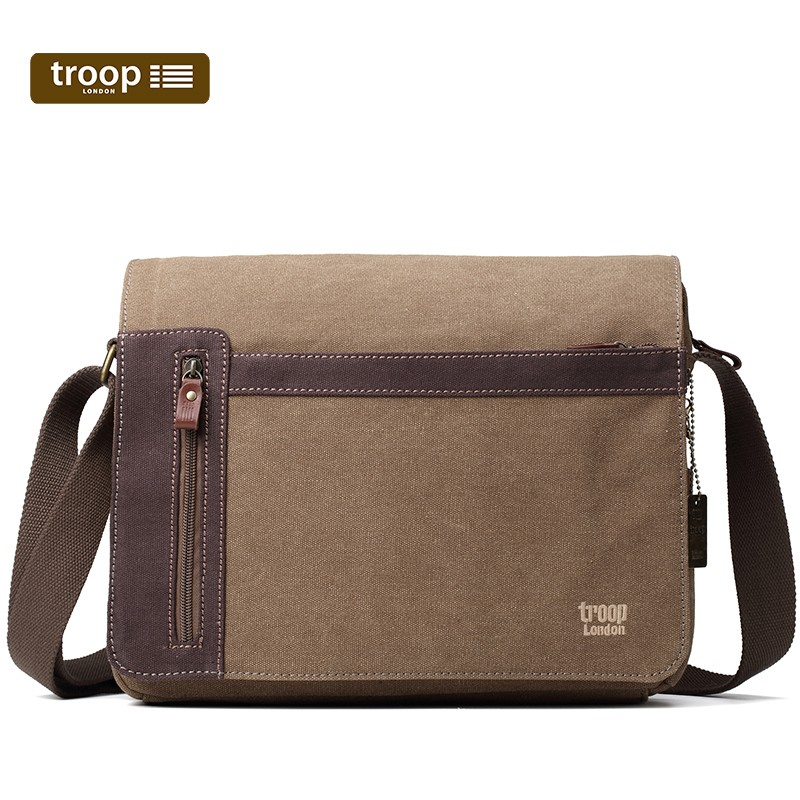 ab666821e817 TROOP LONDON CLASSIC CANVAS MESSENGER BAG - BROWN - Jehovah s ...