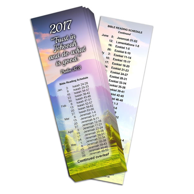2017 Bible Reading Bookmarks Pack of 10