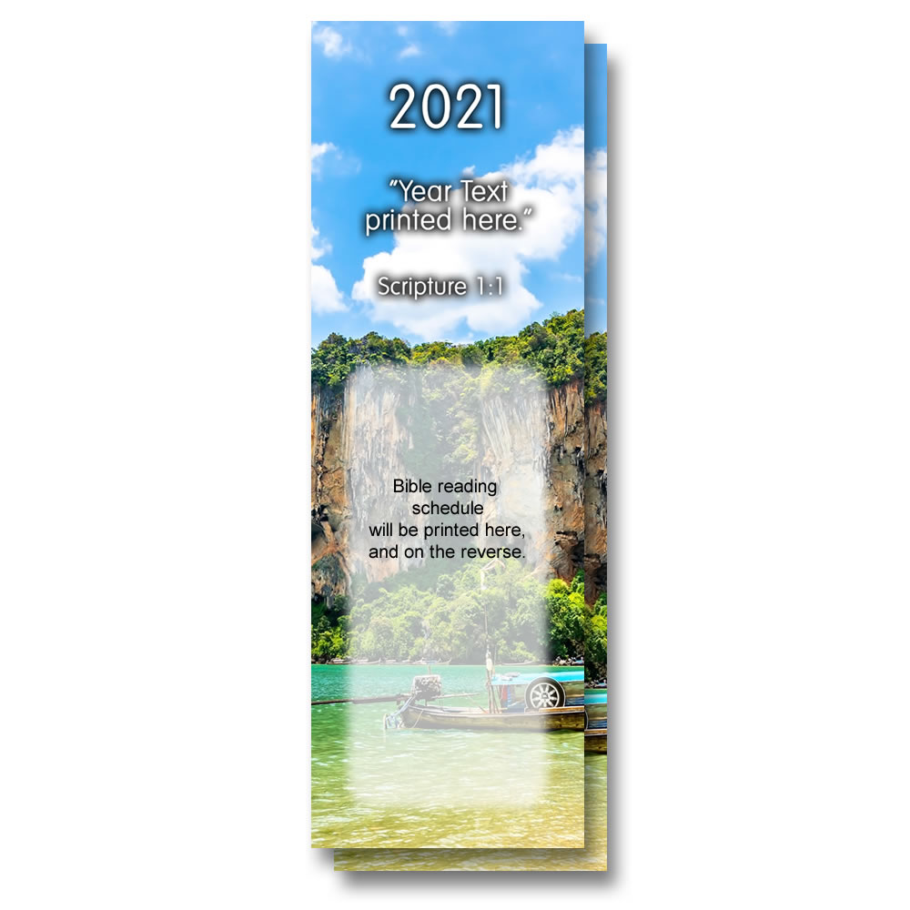 2021 Bible Reading Bookmarks Pack of 10