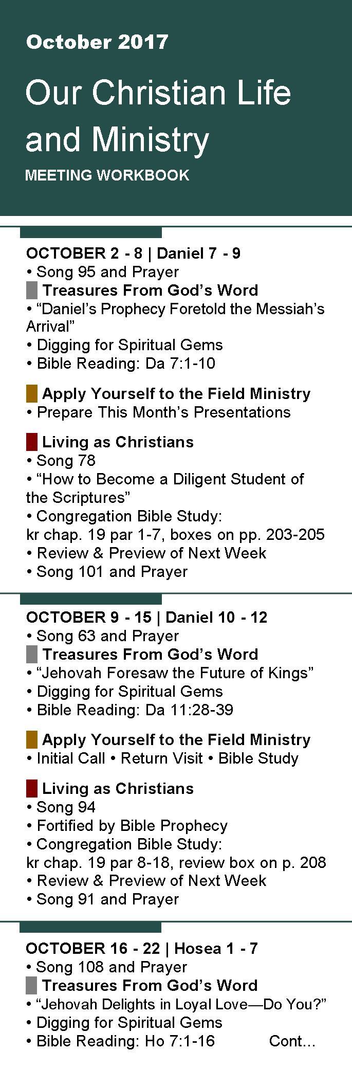 Workbooks prayer workbook : Free Bookmarks for Meeting Workbook October 2017 - Items voor ...