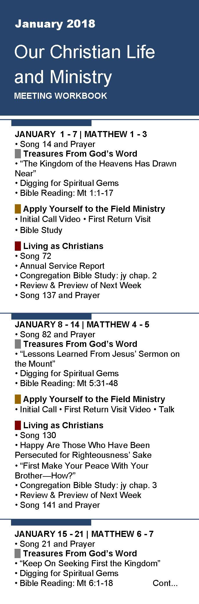Workbooks prayer workbook : Free Bookmarks for Meeting Workbook January 2018 - Articoli per ...
