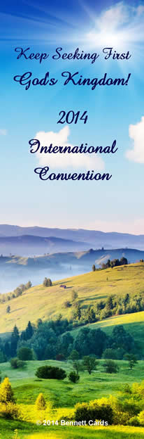 Greetings Bookmarks for 2014 International Convention <b>PACK OF 10</b>\ width=