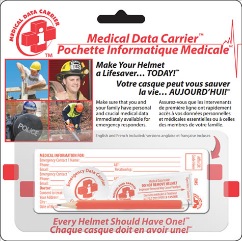 Medical Data Carrier - Emergency Helmet Pouch