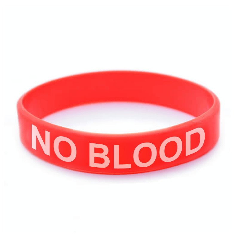 No Blood Silicone Wristband