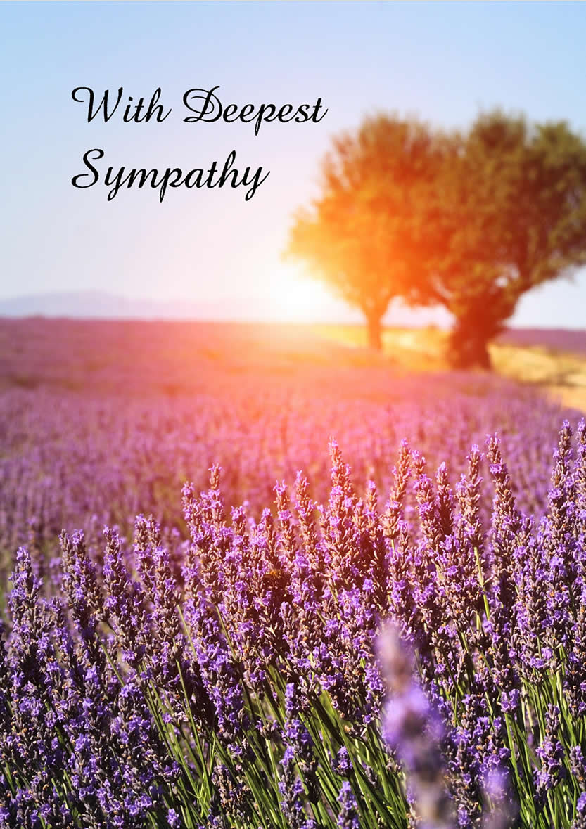 Ministry With Sympathy Greeting Card - Sympat...