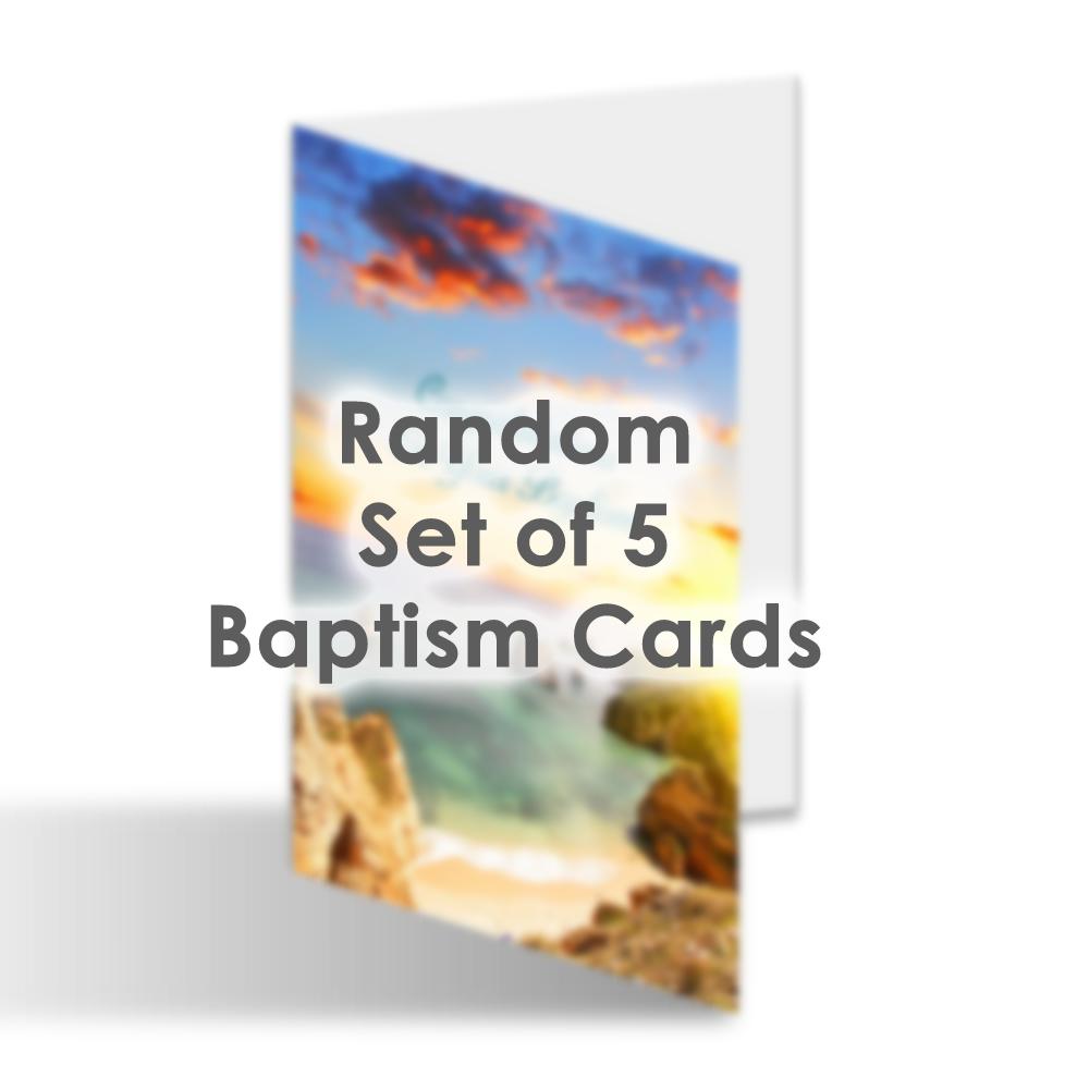 Card Set - Random Set of 5 Baptism Cards