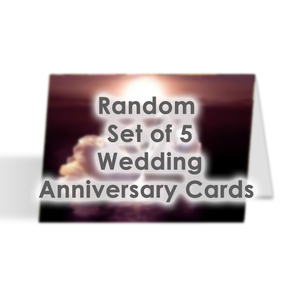 Card Set - Random Set of 5 Wedding Anniversary Cards