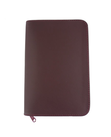 LEATHER COVER - SMALL PAPER BACK BOOKS  - BURGUNDY