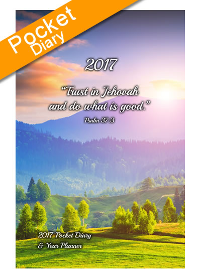 Pocket 2017 Premier Theocratic Diary + FREE Cover