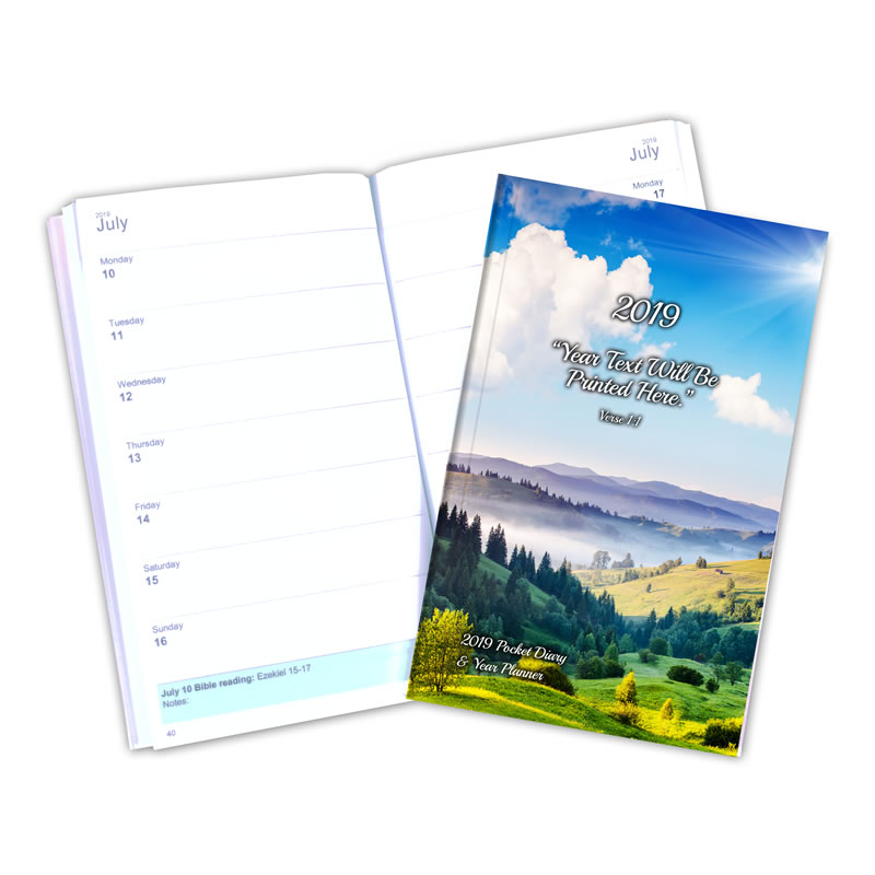 Pocket 2019 Premier Theocratic Diary + FREE Cover