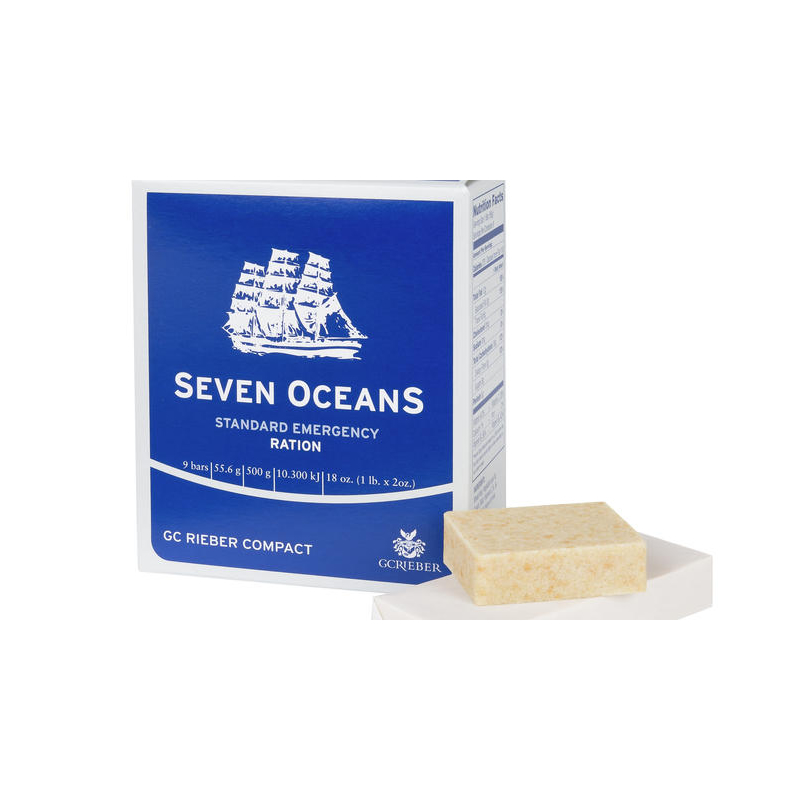 Seven Oceans Emergency Food Ration Long Life Up to 5 Year Shelf Life 9 Survival Biscuits