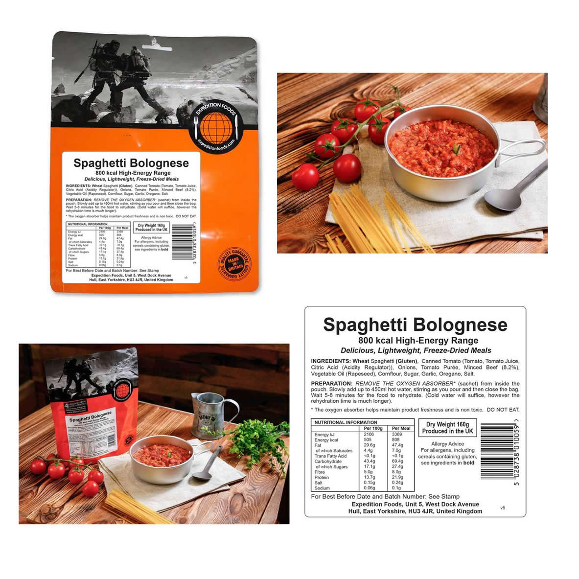 Expedition Foods Freeze Dried High Energy Meal Range  - Meal