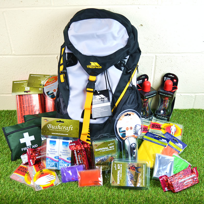 Emergency 2 Person Go/Grab Bag with Rucksack