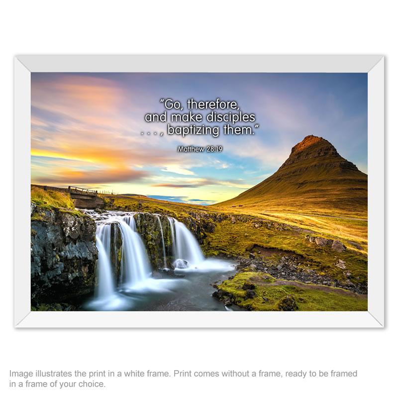 A4 Framing Print - Matt 28v19