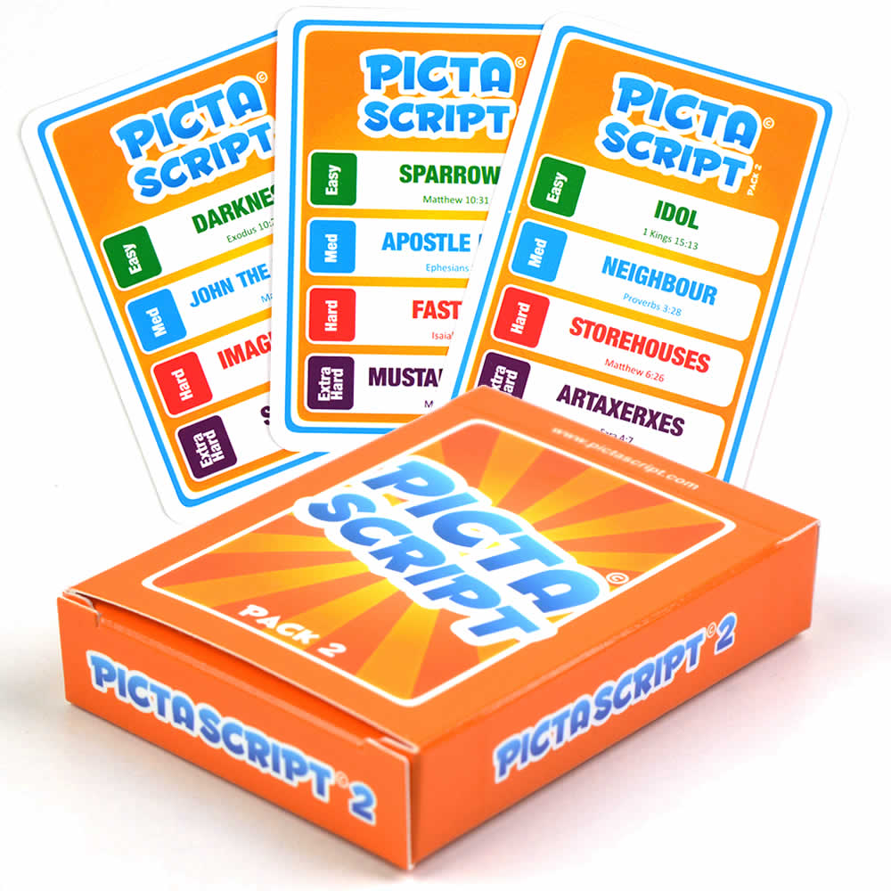 PICTASCRIPT Pack 2 - The Bible Based Quick Draw Card Game