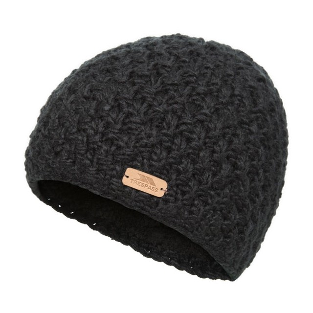 Ladies Trespass Ania Knitted Hat  - BLACK