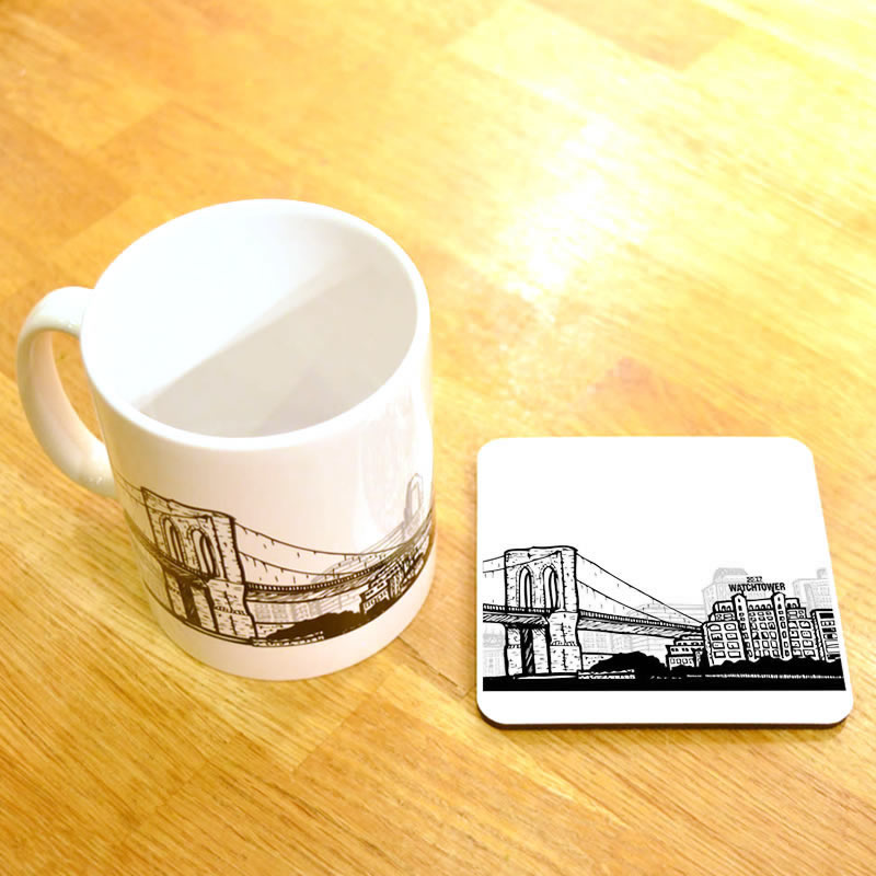 White Brooklyn NY Watchtower Mug  - Select Your Options