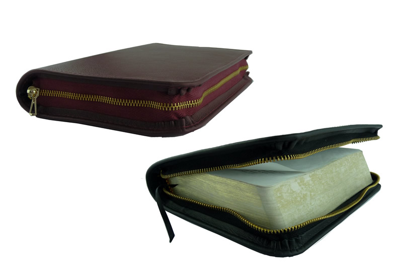NWT STANDARD/DELUXE BIBLE - LEATHER COVER\ width=