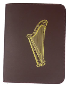 LEATHER COVER - OLD LARGE SONG BOOK  - BURGUNDY