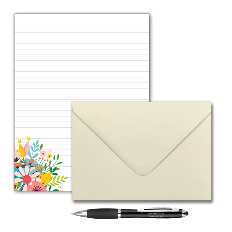 Letter Writing Pad or Set - Design #1  - Options