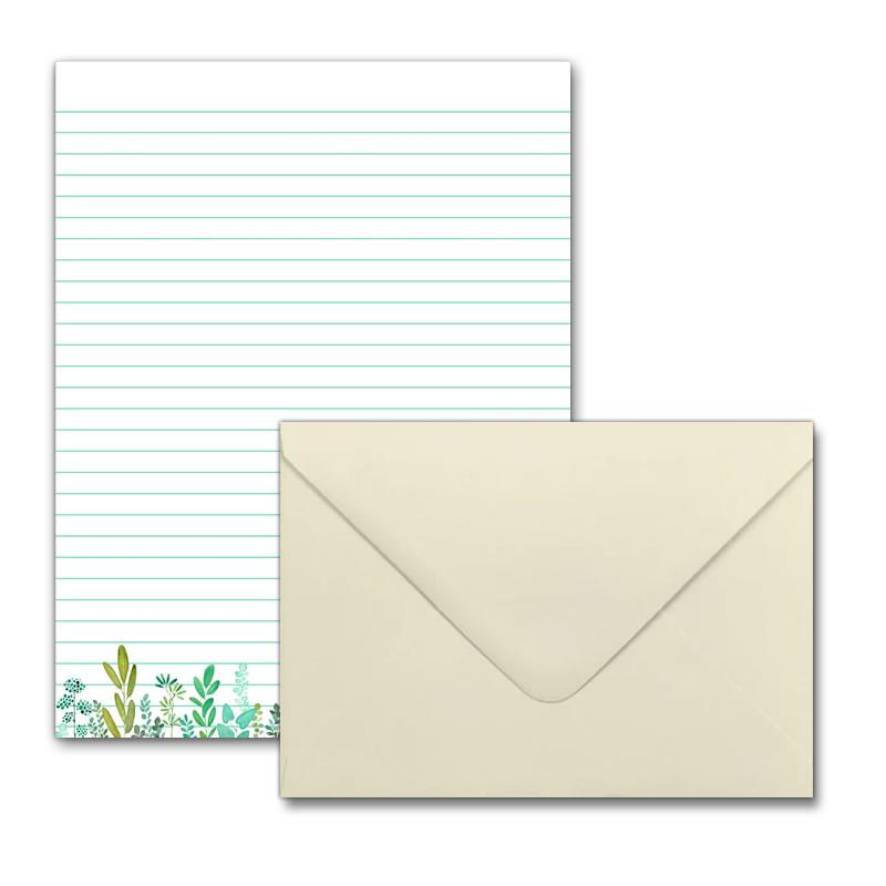 Letter Writing Set - Design #2  - Notepad + 50 Envelopes