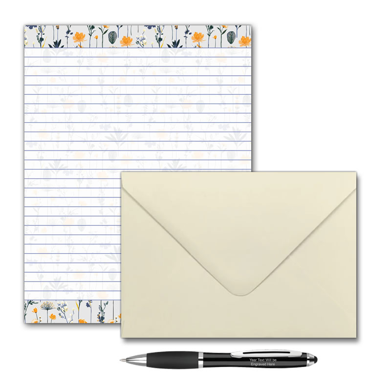 Letter Writing Pad or Set - Design #3  - Options
