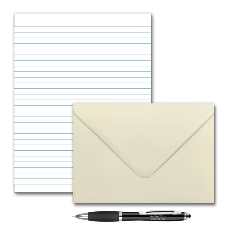 Letter Writing Pad or Set - Plain Lined  - Options