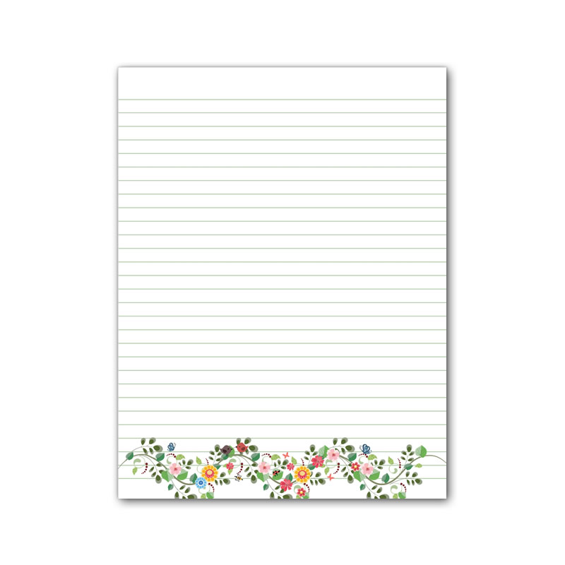Letter Writing Pad - Design #5  - Notepad Only