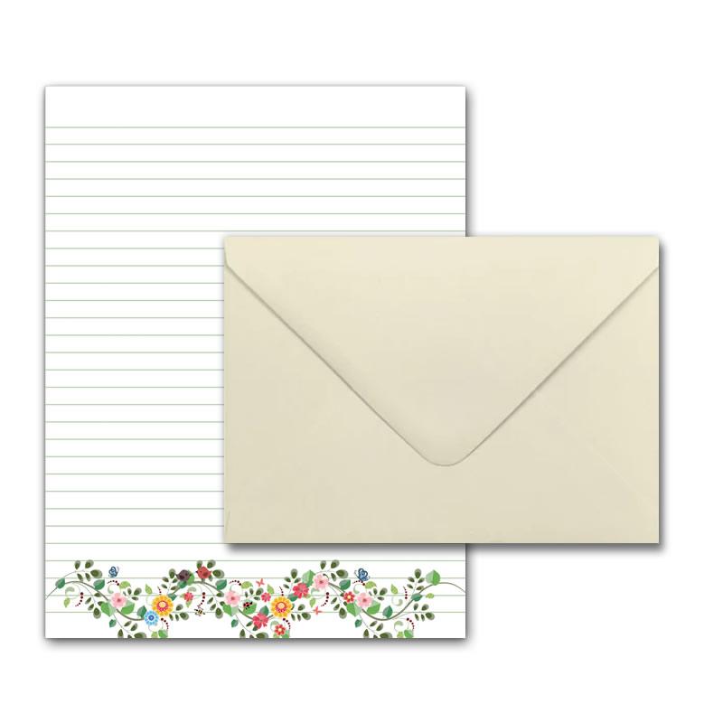 Letter Writing Set - Design #5  - Notepad + 50 Envelopes