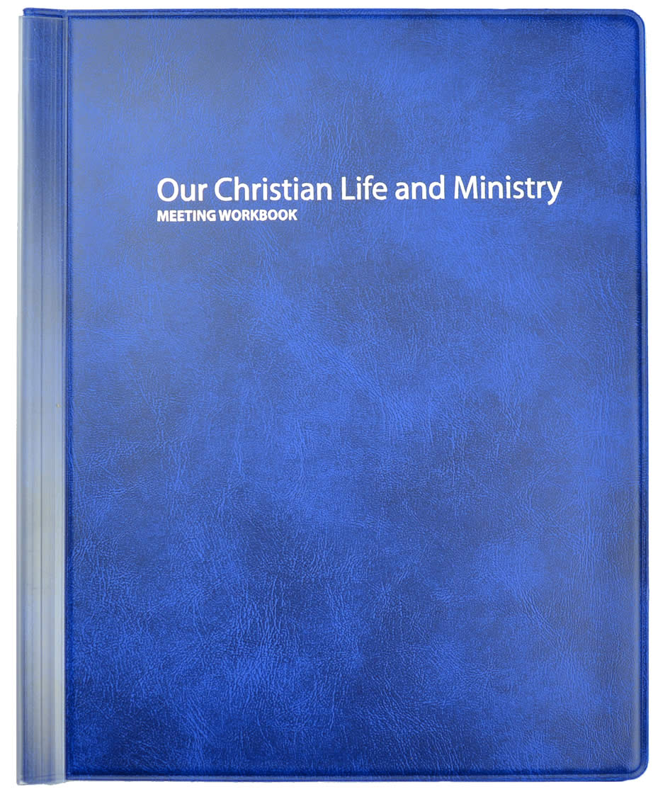 Workbooks christian workbooks for women : Our Christian Life and Ministry Meeting Workbook Folder - BLUE ...