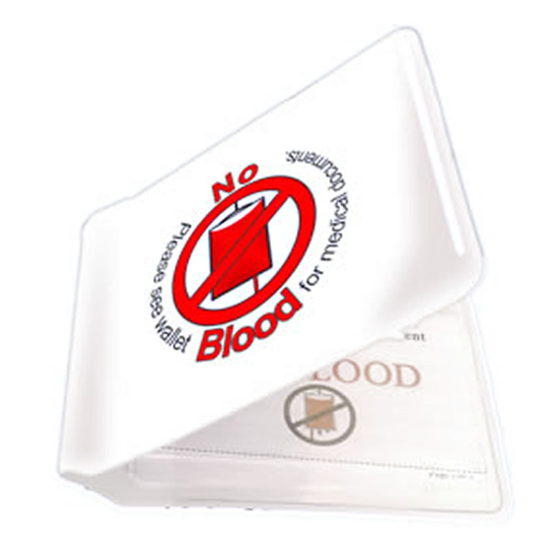 No Blood Card Holder