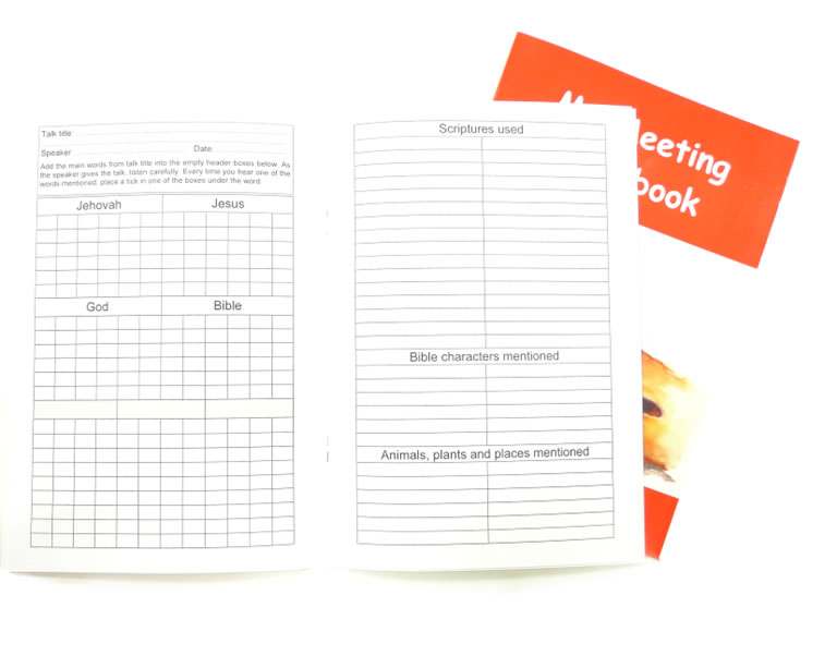 Notebook for children - Meetings