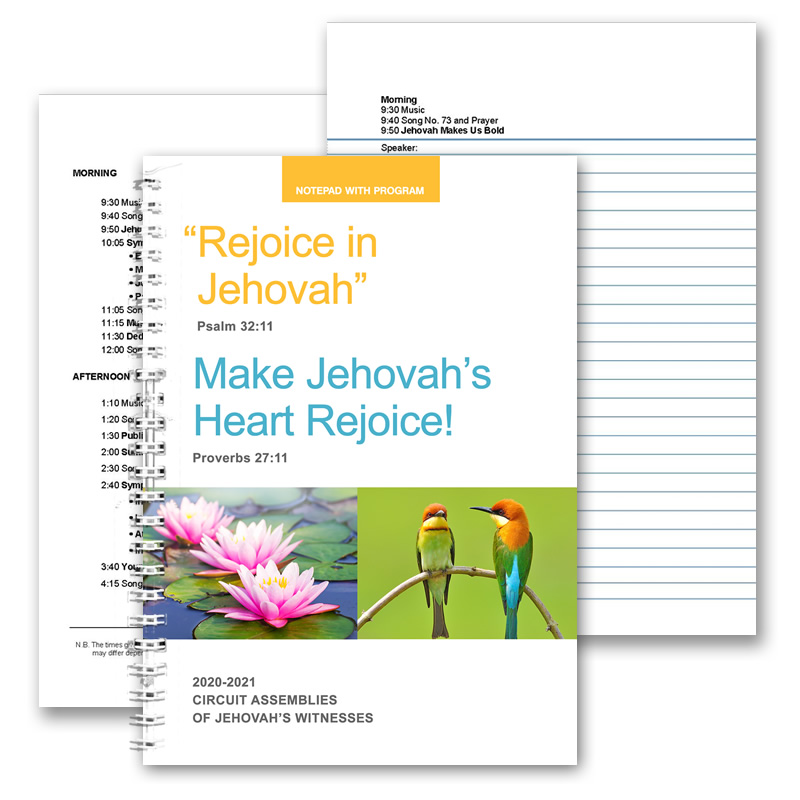 2020-2021 Assemblies Notepad A5 - for Adults - with Programs