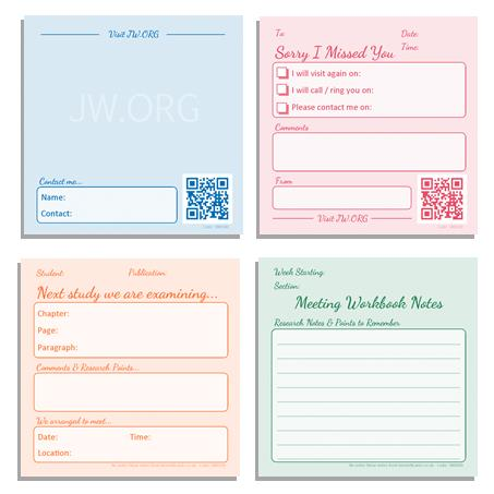 Bennett cards theocratic sticky notes set ministry and study fandeluxe Images