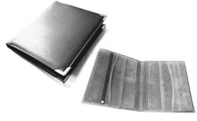 Vinyl Meeting Workbook Watchtower Folder - Black  - BLACK