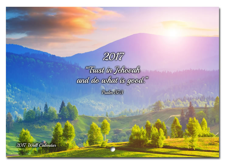 NEW! 2017 Theocratic Wall Calendar - Jehovah's Witness Theocratic