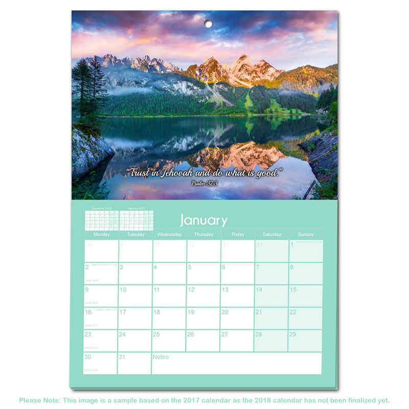 Theocratic Wall Calendar  JehovahS Witness Theocratic