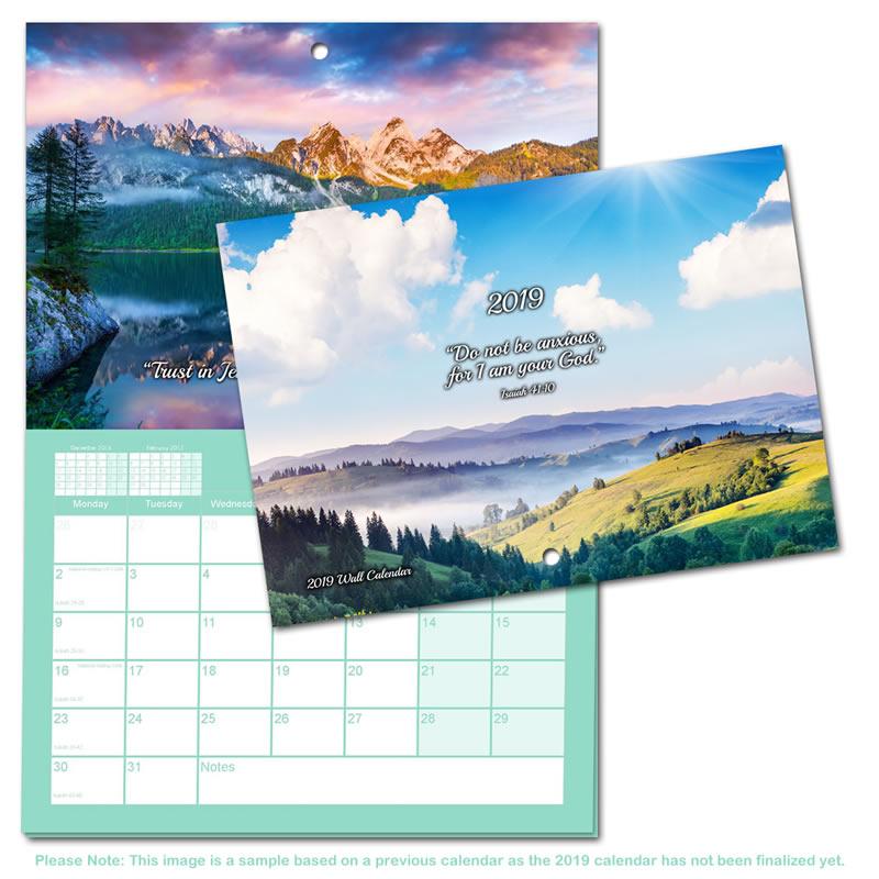 2019 Theocratic Wall Calendar