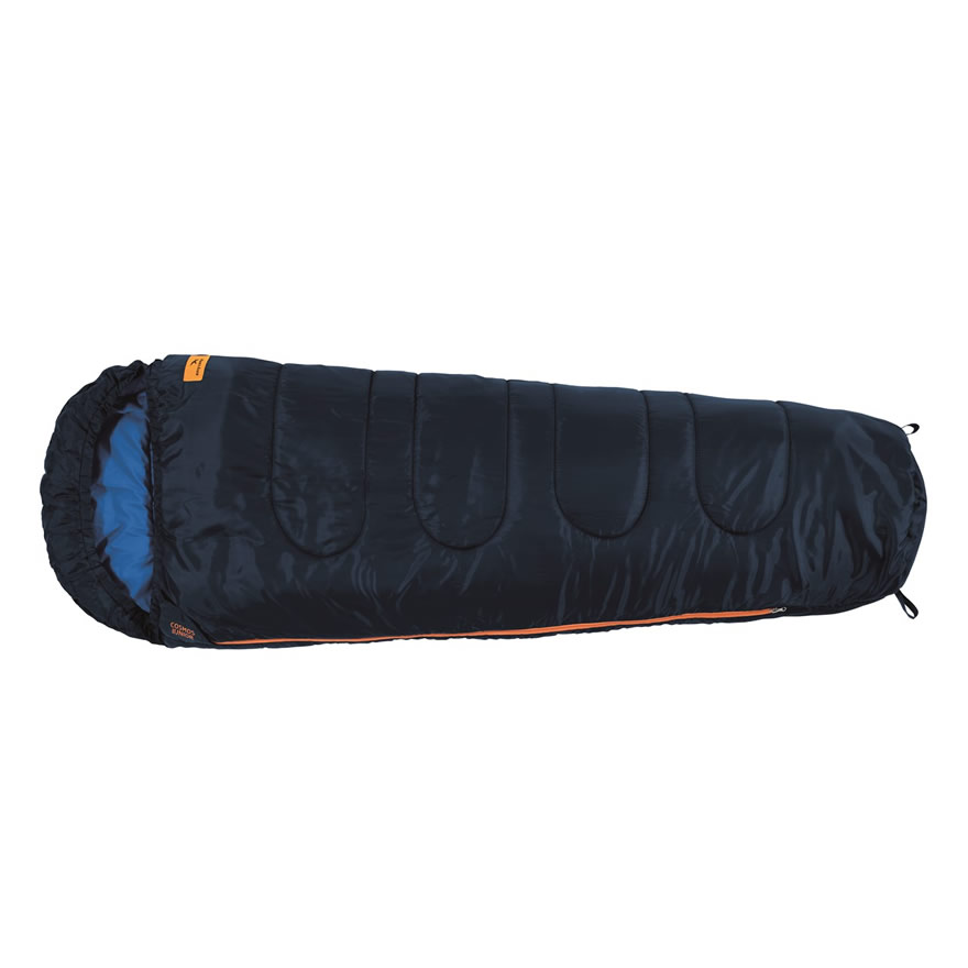 Easy Camp Junior Child Kids Camping Season 1/2 Warm Mummy Sleeping Bag  - BLUE