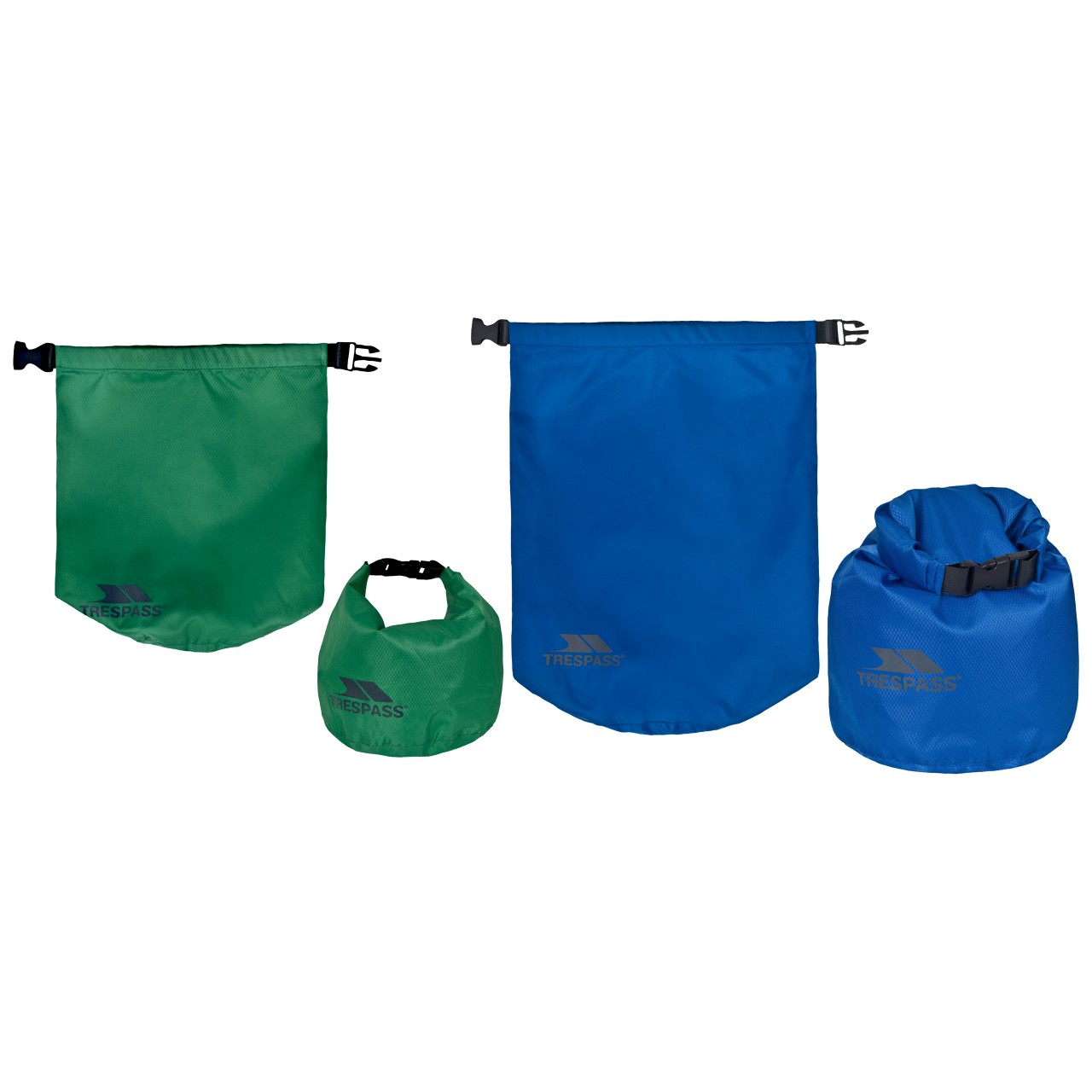 Trespass 2 Pack Dry Bags - Go Bag Item EXHILARATION DRY BAGS